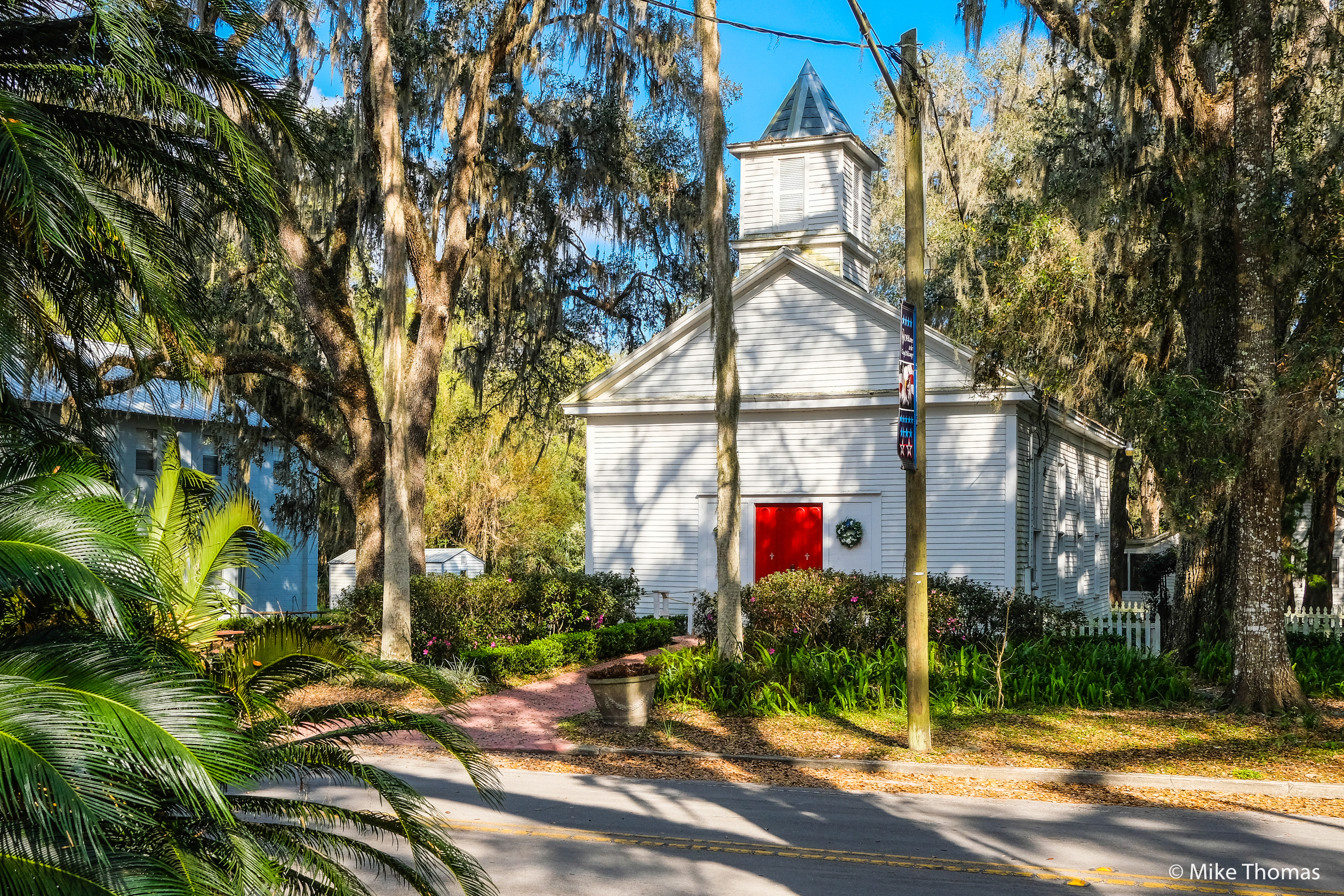 micanopy, florida, backroads, church, small town usa